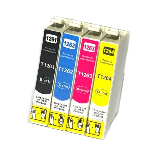 C1 Epson 4PK New Compatible T126 CMYK Standard Inkjet Cartridges, Standard Yield