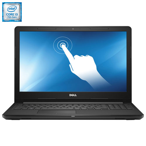 "Dell 15.6"" Inspiron Touchscreen Laptop - Black (Intel Core i3-7100U/1TB HDD/8GB RAM/Windows 10)"