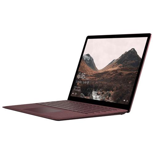 Surface Laptop à écran tactile 13,5 po de Microsoft - Bourgogne (SSD 256 Go/RAM 8 Go) - Anglais