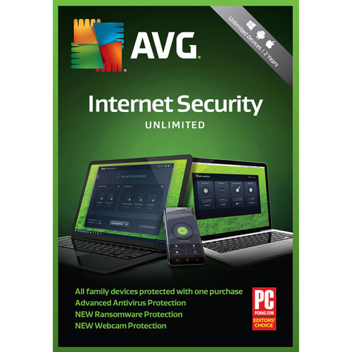 AVG Internet Security 2018 - Utilisateurs illimités - 2 ans
