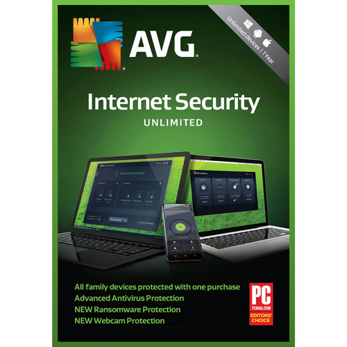 AVG Internet Security 2018 - Unlimited Users - 1 Year