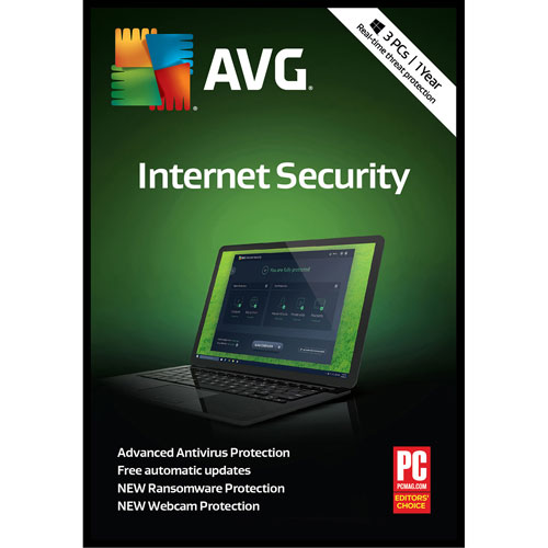 AVG Internet Security 2018 - 3 utilisateurs - 1 an