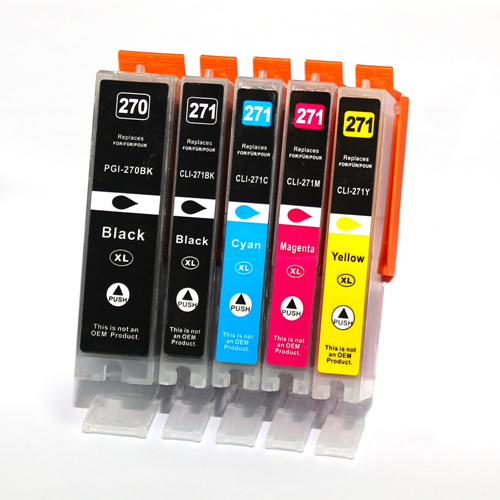 C1 Compatible 5PK PGI-270XL CLI-271XL Ink Cartridges for Canon PIXMA MG5720 MG5721 MG6820 MG6821 TS5020 TS6020 TS9020