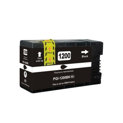 C1 Compatible PGI-1200XL Black High Yield Ink Cartridges for Canon Maxify: MB2020 MB2320 MB2120 MB2720