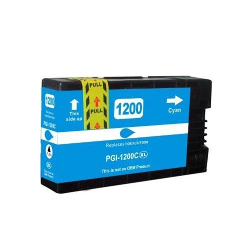 C1 Compatible PGI-1200XL Cyan High Yield Ink Cartridges for Canon Maxify: MB2020 MB2320 MB2120 MB2720