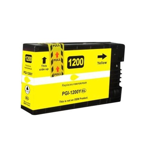 C1 Compatible PGI-1200XL Yellow High Yield Ink Cartridges for Canon Maxify: MB2020 MB2320 MB2120 MB2720