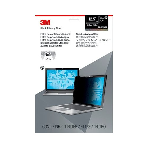 "3M Privacy Filter For 12.5"" Edge-To-Edge Widescreen Laptop (PF125W9E)"