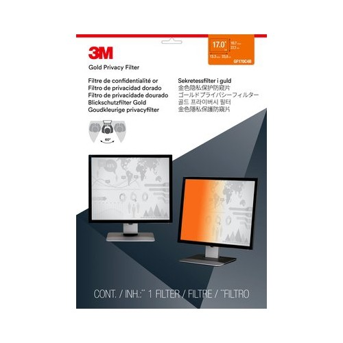"""3M Gold Privacy Filter for 17"""" Standard Monitor (GF170C4B)"""