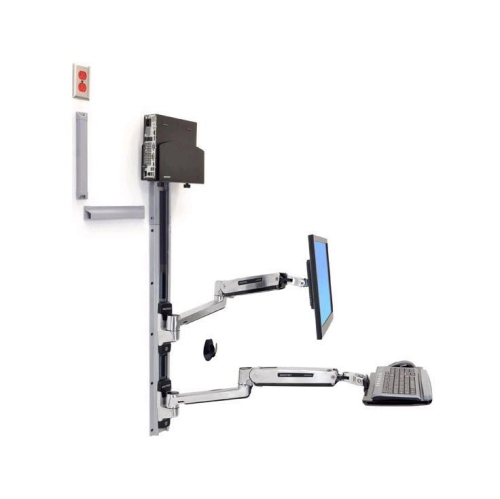Ergotron LX Sit-Stand Keyboard & Monitor Mount with Small CPU Holder (45-359-026)