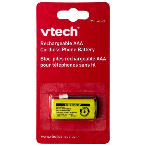 Batterie rechargeable AAA 2,4 V 750 mAh de VTech pour téléphone sans fil
