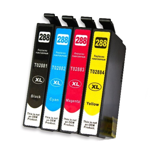 C1 4PK Compatible T288XL CMYK High Yield Inkjet Cartridges for Epson Expression: XP-330 XP-340 XP-430 XP-434 XP440