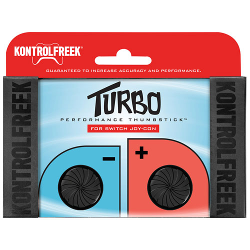 Capuchons antidérapants Turbo Performance Thumbstick de KontrolFreek pour Switch - Noir