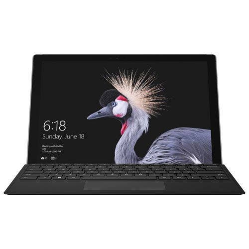Surface Pro 12,3 po 128 Go de Microsoft avec Windows 10, clavier, Core i5-7300U d'Intel - Noir - Ang