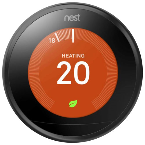 Nest Wi-Fi Smart Learning Thermostat 3rd Generation - Black - Only At Best Buy