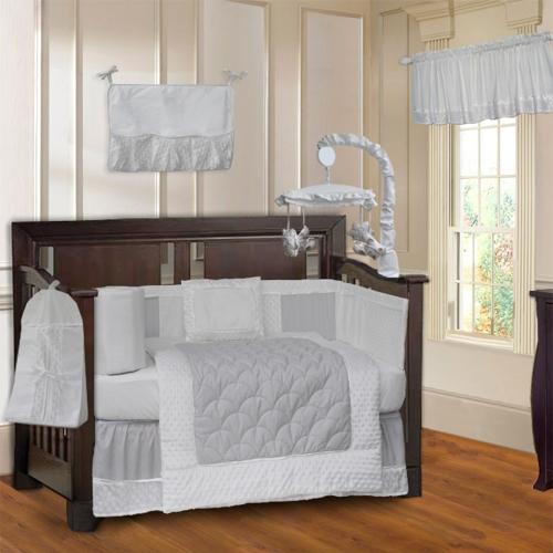 Babyfad Minky White 10 Piece Baby Crib Bedding Crib Bedding Best Buy Canada