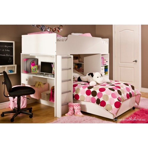 South Shore Logik Twin Loft Bed 39 Pure White Kids Beds Best