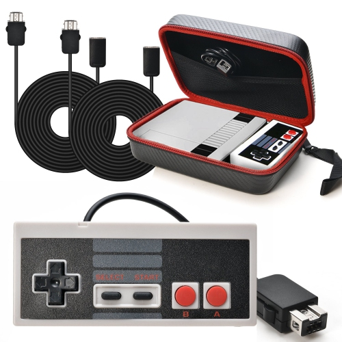 AGPtek Replacment For Nintendo NES Classic Mini Edition Carring Bag + Controller Gamepad + 2pc*9.84Ft Extension Cables