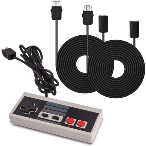 AGPtek Nintendo NES Classic Mini Edition Controller Gamepad and 2pc*9.84Ft Extension Cables