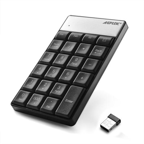 AGPtek Wireless Numeric Keypad,23 Keys 2.4G Nano USB Numeric Receiver Number Pad Keyboard for iMac Macbook PC