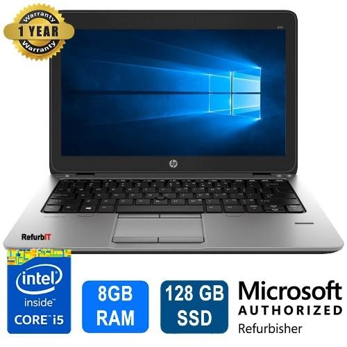 "HP Elitebook 820 G1, 12.5"" Display, Intel Core i5, 8GB RAM, 128 SSD, Windows 10 Pro - Refurbished"