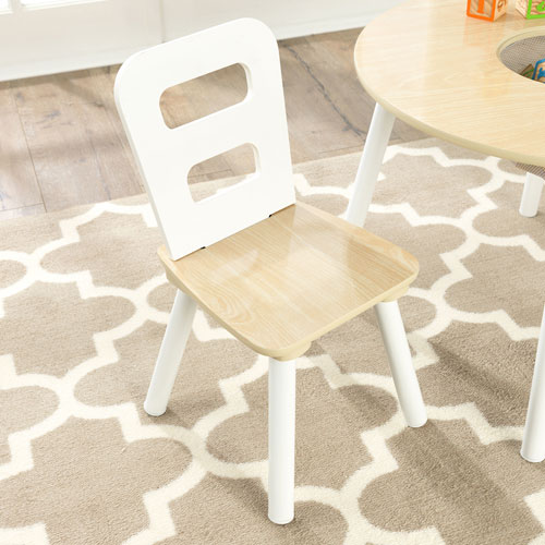 Prime Kidkraft Round Storage Table And Chair Set Natural White Pabps2019 Chair Design Images Pabps2019Com