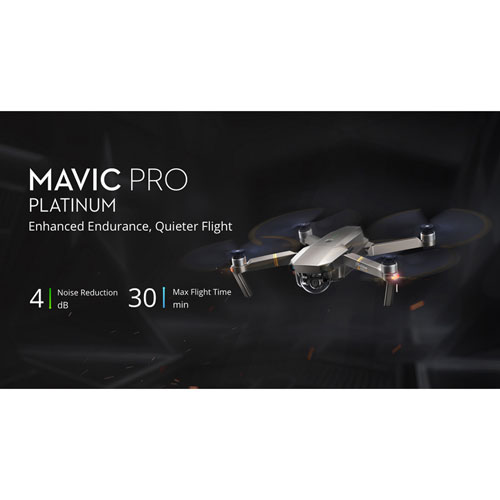Quadrocopter fotocamera Drone UHD DJI Mavic Pro Platinum Drone 4k Ultra HD