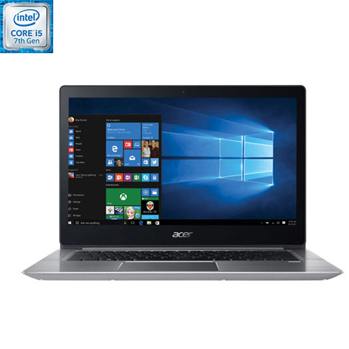 Portable 14 po Swift 3 d'Acer - Argenté (Core i5-8250U d'Intel/SSD 128 Go/RAM 8 Go/Win 10 Famille)