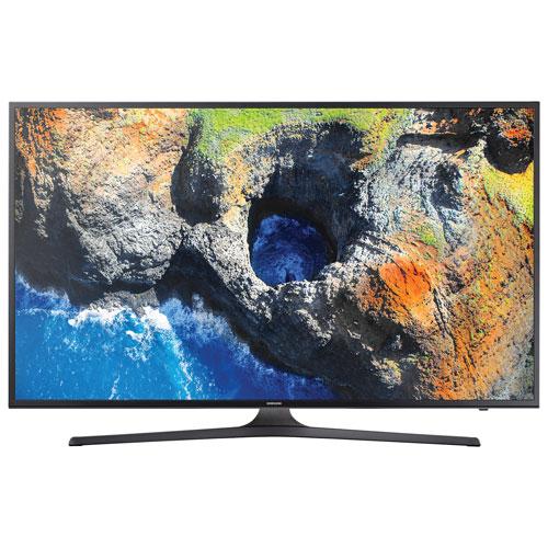 Téléviseur intelligent Tizen HDR DEL UHD 4K de 50 po de Samsung (UN50MU6300FXZC) - Titane foncé - BO