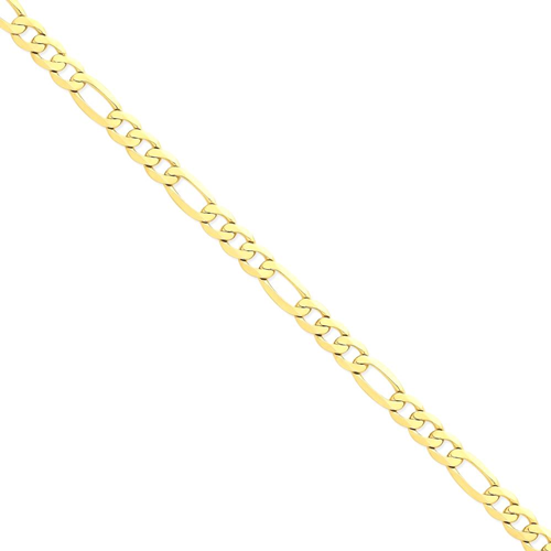 IceCarats 14k Yellow Gold 7.5mm Flat Link Figaro Chain Anklet For Women Ankle Beach Bracelet 9 Inch Men