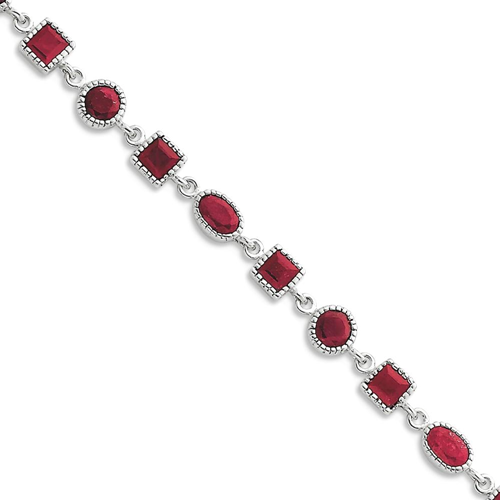on bhp xtq red gold oval white tone tennis finish ebay silver created bracelet brass cz ruby