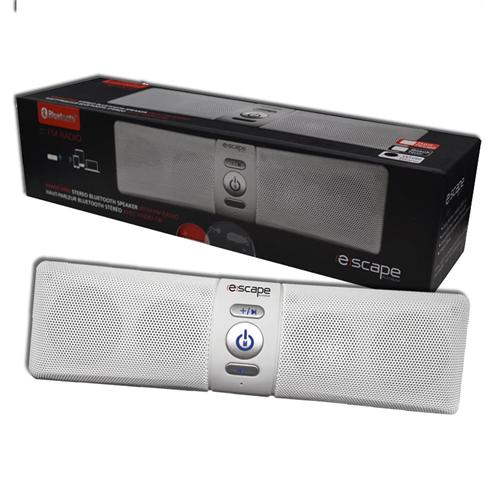 Escape Platinum Bluetooth Speaker FM Stereo USB Micro SD White