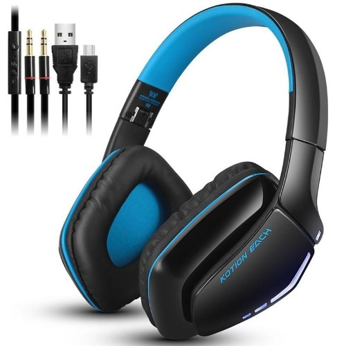 Kotion EACH B3506 Foldable Wireless Bluetooth Headphones casque Hifi Bass Stereo Headset with Mic for Phone PS4 Tablet PC Game