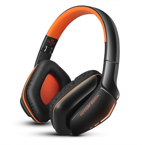 EACH B3506 Foldable Bluetooth 4.1 Wireless Gaming Headset Headphones Stereo with Mic for Computer PS4 Tablet (Orange)
