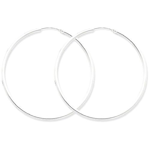 IceCarats 925 Sterling Silver 2mm Hoop Earrings Ear Hoops Set For Women Round Endles