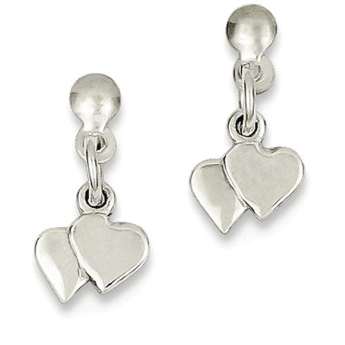 IceCarats 925 Sterling Silver Dangling Hearts Post Stud Earrings Drop Dangle Love