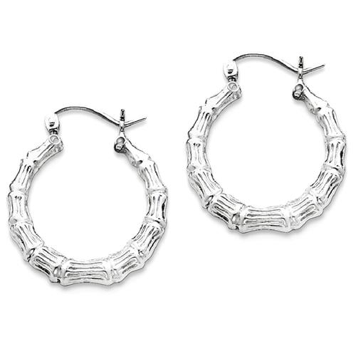 05302736c IceCarats 925 Sterling Silver Bamboo Hoop Earrings Ear Hoops Set For Women    Best Buy Canada