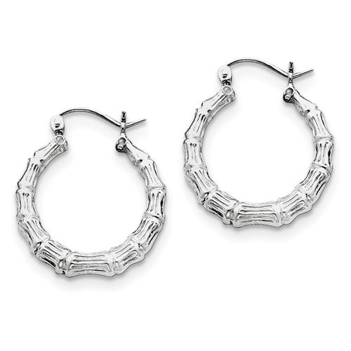 40a8d56f0 IceCarats 925 Sterling Silver Bamboo Hoop Earrings Ear Hoops Set For Women