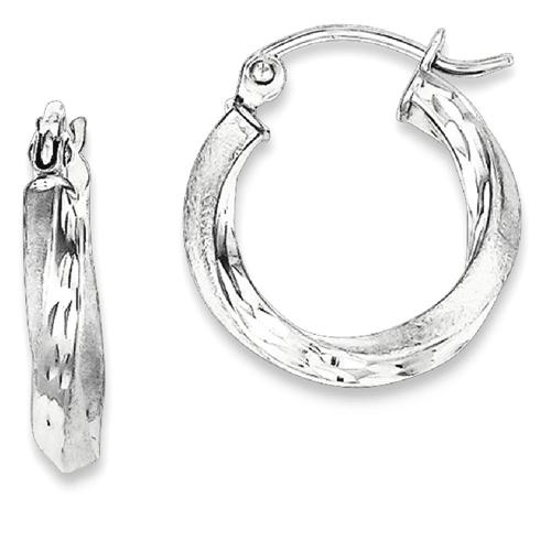 IceCarats 925 Sterling Silver Finished Twisted Hoop Earrings Ear Hoops Set For Women