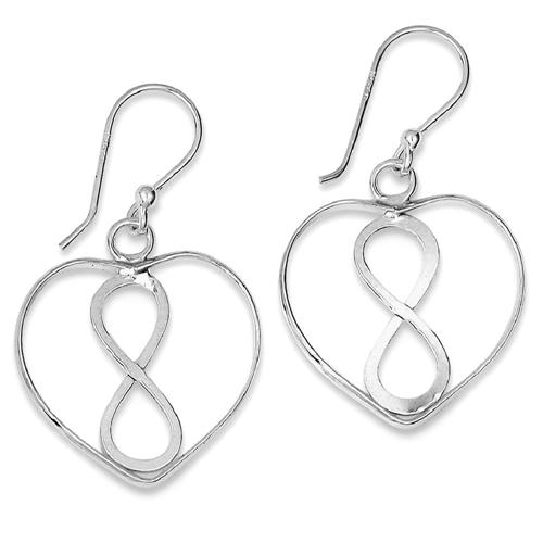 IceCarats 925 Sterling Silver Heart Infinity Symbol Drop Dangle Chandelier Earrings Love