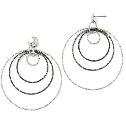 f10af9b73 IceCarats Sand Ruthenium Plated Post Stud Hoop Earrings Ear Hoops Set For  Women Drop Dangle : Earrings - Best Buy Canada