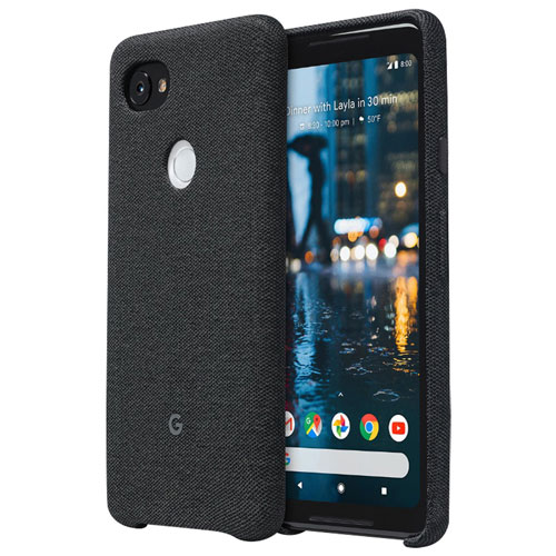 Google Fitted Hard Shell Fabric Case for Pixel 2 XL - Carbon Black