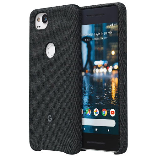 Google Fitted Hard Shell Fabric Case for Pixel 2 - Carbon Black
