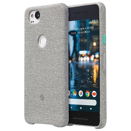 Google Fitted Hard Shell Fabric Case for Pixel 2 - Cement
