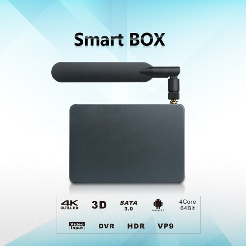 Realtek RTD1295 Quad-Core ARM Cortex-A53 64-bit @2GHz Android 6.0 TV Box with HDMI-in Recording HDR, media player