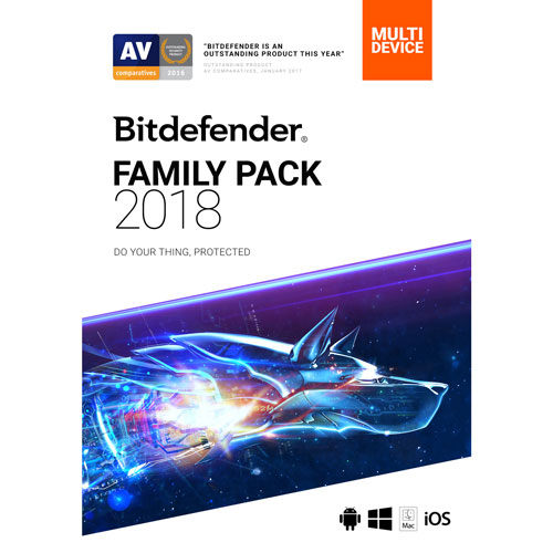 Bitdefender Family Pack 2018 (PC/Mac) - Unlimited Users - 2 Year - English/French