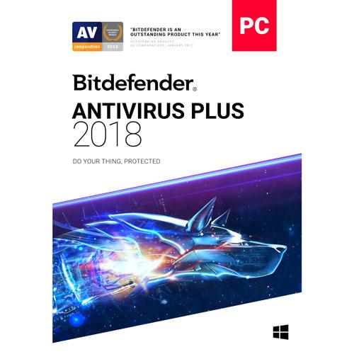 Bitdefender Antivirus Plus 2018 (PC) - 3 utilisateurs - 2 ans - Anglais/Français