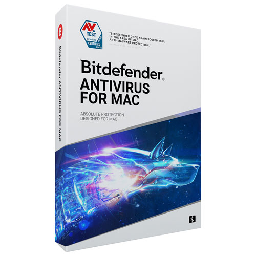 Bitdefender Antivirus For Mac (Mac) - 3 Users - 2 Years - English/French