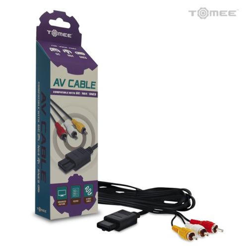 TOMEE Av Cable - GameCube,Super Nintendo Entertainment System(SNES) (8.13E+11) - Black