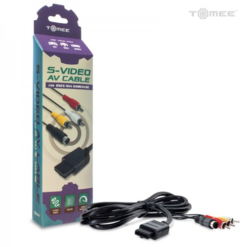 AV/S-VIDEO CABLE GAMECUBE, N64 AND SNES TOMEE