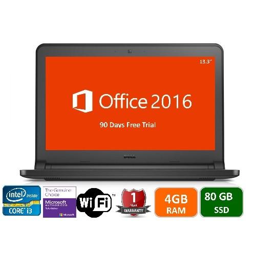 Dell Latitude E3340, intel i3-4010U-1.7 GHz, 4GB Memory, 80gb SSD, Windows 10 Home, 1YW-Refurbished